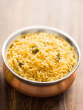 Indian golden biryani rice Stock Photo