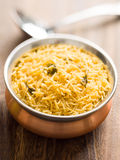 Indian golden biryani rice Royalty Free Stock Photography