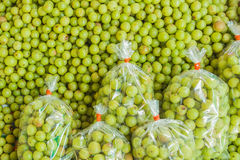 Indian gooseberries selling at Thai local market Stock Photos