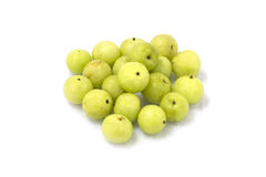 Indian gooseberries. On white background Stock Photography