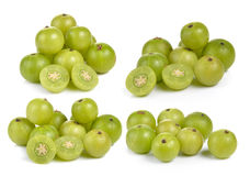 Indian gooseberries on white background Royalty Free Stock Photography