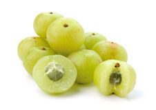 Indian gooseberries on white background Royalty Free Stock Photo