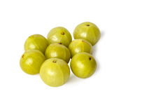 Indian gooseberries on white background Royalty Free Stock Image