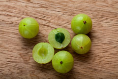 Indian Gooseberry. Fresh Indian gooseberry, alternative medicine royalty free stock photography