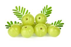 Indian gooseberry isolated on white background stock images