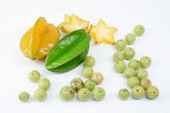Indian gooseberry and starfruit Royalty Free Stock Photos