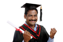 Indian graduate Stock Images