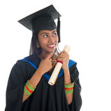 Indian graduate university student thinking Royalty Free Stock Images