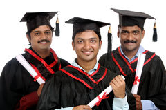 Indian graduates Stock Photos