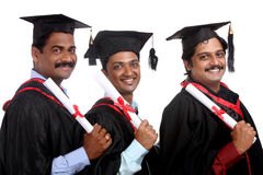 Indian graduates Stock Photography