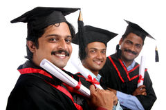 Indian graduates Royalty Free Stock Photography