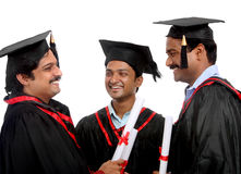 Indian graduates Royalty Free Stock Photos