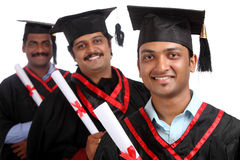 Indian graduates Stock Photo