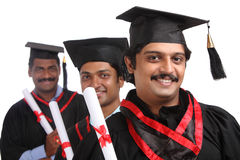 Indian graduates Stock Image