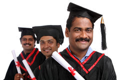 Indian graduates Royalty Free Stock Photo