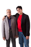 Indian Grandfather and grandson Royalty Free Stock Image