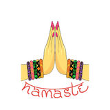 Indian greeting banner Namaste Royalty Free Stock Photo