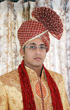 Indian Groom. A Hindu Gujrati Groom with turban getting ready for marriage Stock Photography