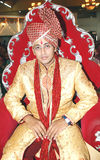 Indian Groom. An indian groom in traditional attire sherwani at the time of wedding Stock Images