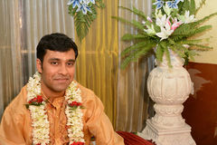 Indian Groom. A portrait of a Indian groom during the marriage rituals Royalty Free Stock Photography