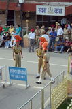 Indian guards at the Wagah border Royalty Free Stock Photography