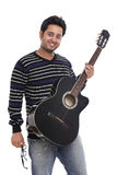 An Indian guitar player Stock Photos