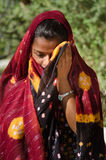 Indian Gujarati village young girl Stock Photo