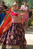 Dancing Indian Gujarati Kutchi young village girl Stock Image