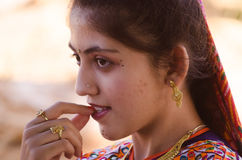 Indian Gujarati village young girl Royalty Free Stock Photography