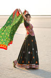 Indian Gujarati village young girl Stock Images