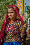 Indian Gujarati young village girl Stock Photography