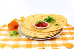 Indian gujrati snack khakhra or crispy roti or crispy chapati bread Royalty Free Stock Photography