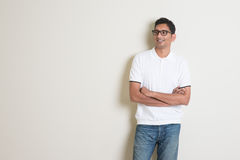 Indian guy looking side Royalty Free Stock Photography