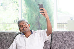Indian guy selfie Royalty Free Stock Photography