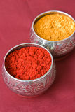 Indian Haldi Kumkum Stock Photos