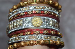 Indian hand bangles Stock Photography