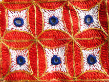 Indian hand embroidery fabric Royalty Free Stock Photos