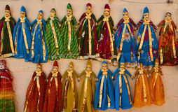 Indian hand made puppets Stock Photos