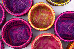 Indian handicrafts made by the natives of Paraty Stock Photos