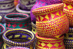 Indian handicrafts made by the natives of Paraty Royalty Free Stock Image