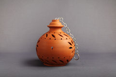 Indian Handmade Clay Lamp Royalty Free Stock Photos