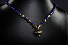 Indian handmade necklace. With Sones Royalty Free Stock Photography