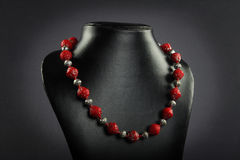 Indian handmade necklace. Indian handmade traditional necklace with beads Royalty Free Stock Photos