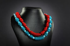 Indian handmade woman necklace Stock Images