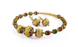 Indian handmade woman necklace Royalty Free Stock Photo