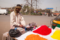 Indian happy man Color full colors of holi Royalty Free Stock Photos
