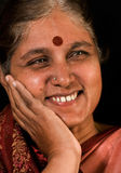 Indian Happy Senior Woman Stock Images