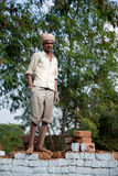 Indian happy worker (labor) Royalty Free Stock Photo
