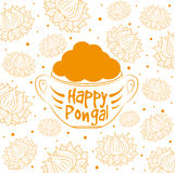 Indian harvesting festival, Happy Pongal. Royalty Free Stock Images