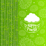 Indian harvesting festival, Happy Pongal. Stock Images